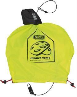 Abus Helmet Home Neon Yellow Indbygget Kodelås | hjelm > tilbehør