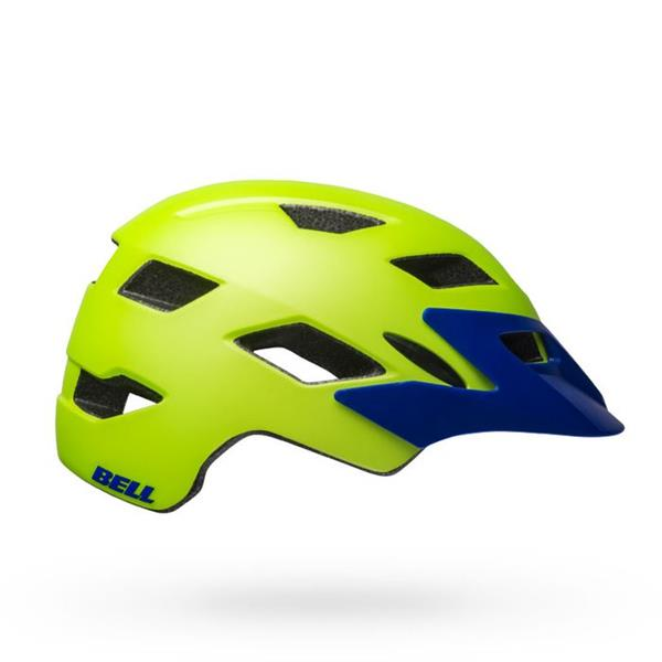 Bell Sidetrack Matte Bright Green Blue MIPS Junior cykelhjelm