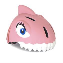 Crazy Safety Pink Shark med LED lys   cykelhjelm