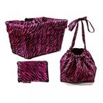 cruiser candy hot zebra basket liner bag