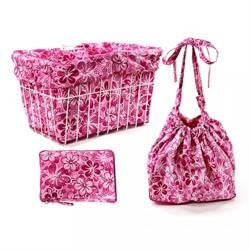 cruiser candy pink hawaiian basket liner bag