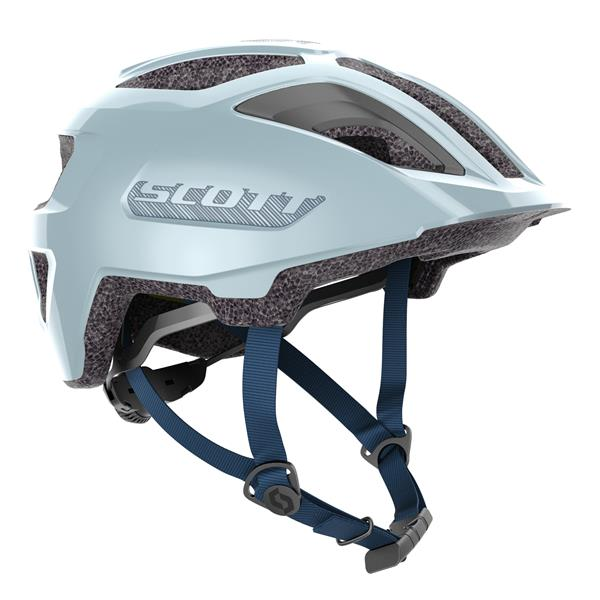 Scott Spunto Junior Plus Glace Blue med LED lys 50-56 cm | junior cykelhjelm mips